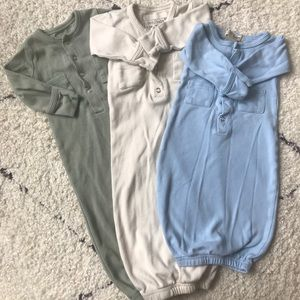 3 EUC L'oved Baby Organic Gowns 0-3 Months